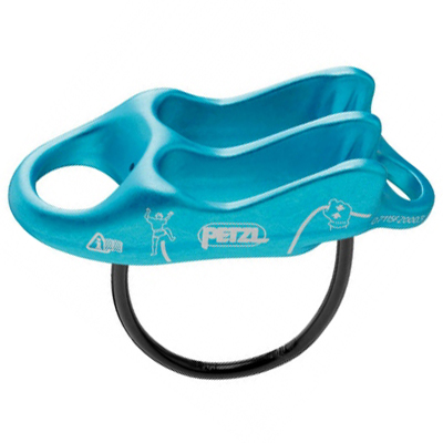 Petzl Reverso3 Side View Blue