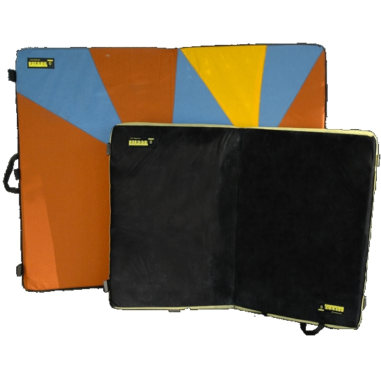 Size comparison of Organic bouldering pads