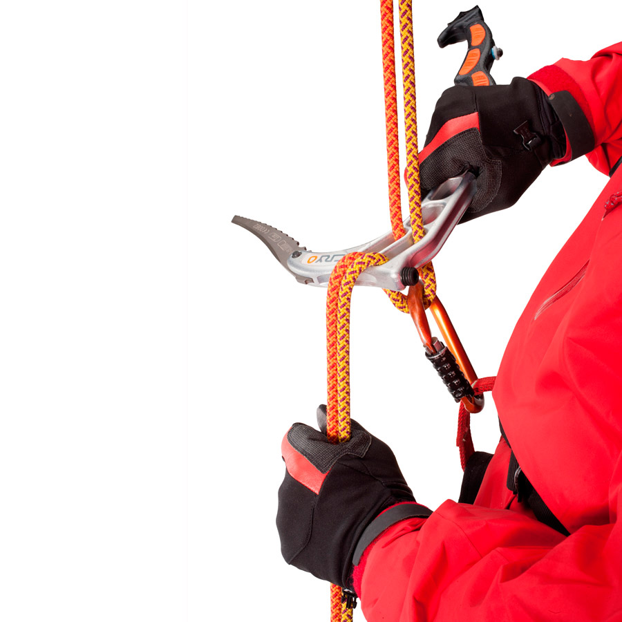 E-climb head design repel device