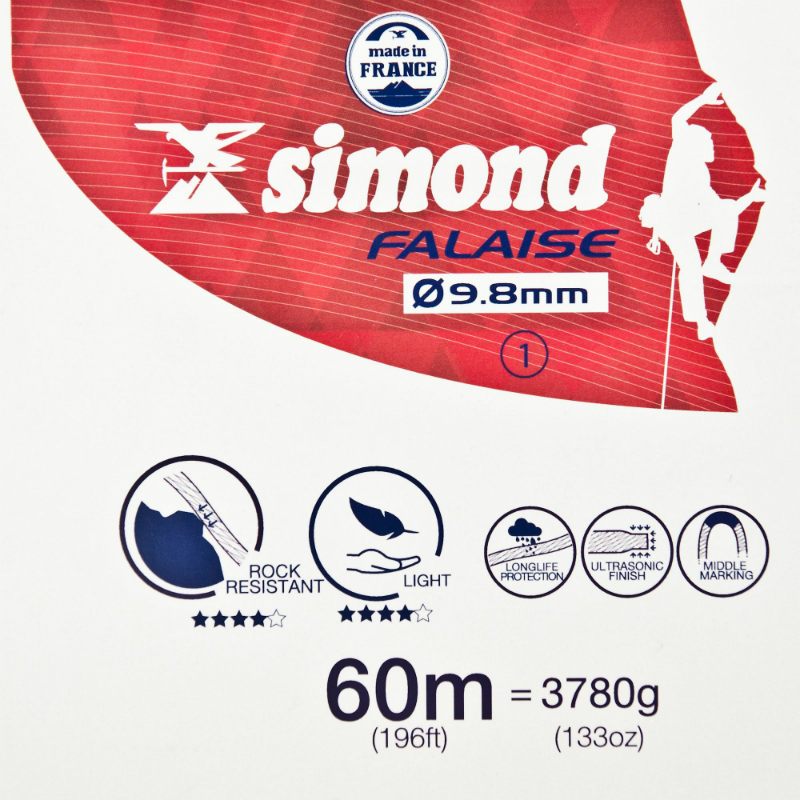 Simond 9.8mm Rope 60m