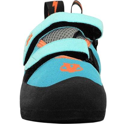 Evolv Elektra Teal Climbing Shoe Front