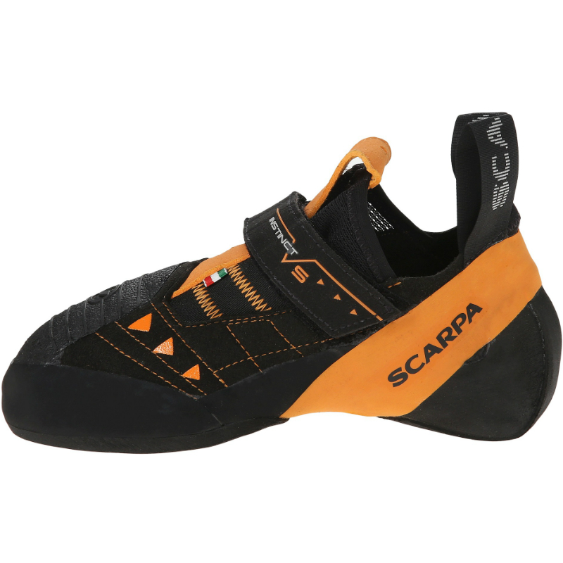 M 12+ D SCARPA Mens Instinct VS Climbing Shoes Black//Orange US