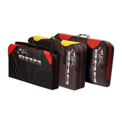 DMM Dyno Bouldering Pad Closed View in Red and Yellow