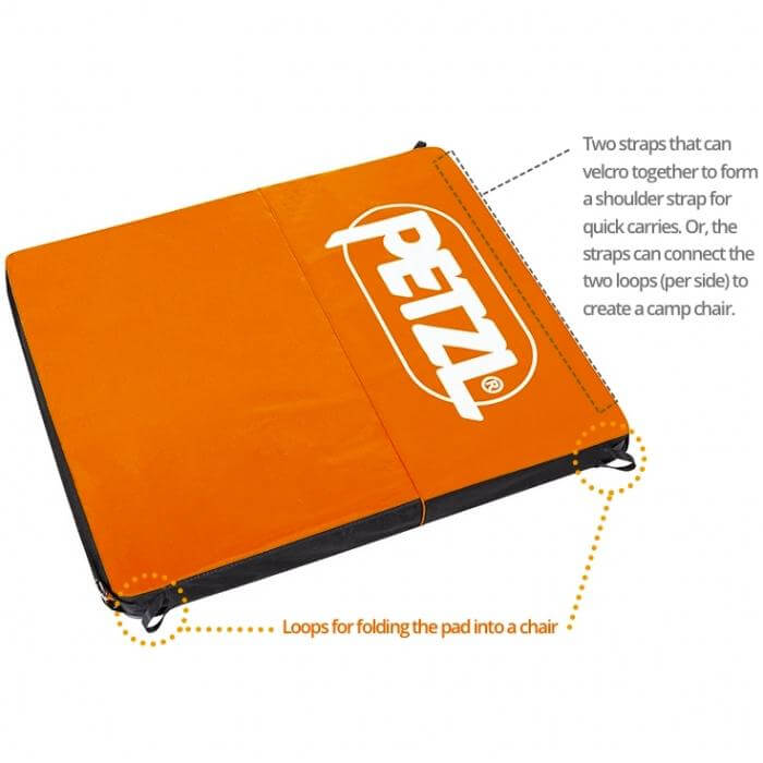 Petzl Alto Crash Pad Chair and Shoulder Carry