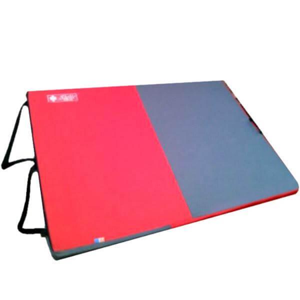 Vcrux Zen Folding Bouldering Crash Pad Red and Blue Full Open View
