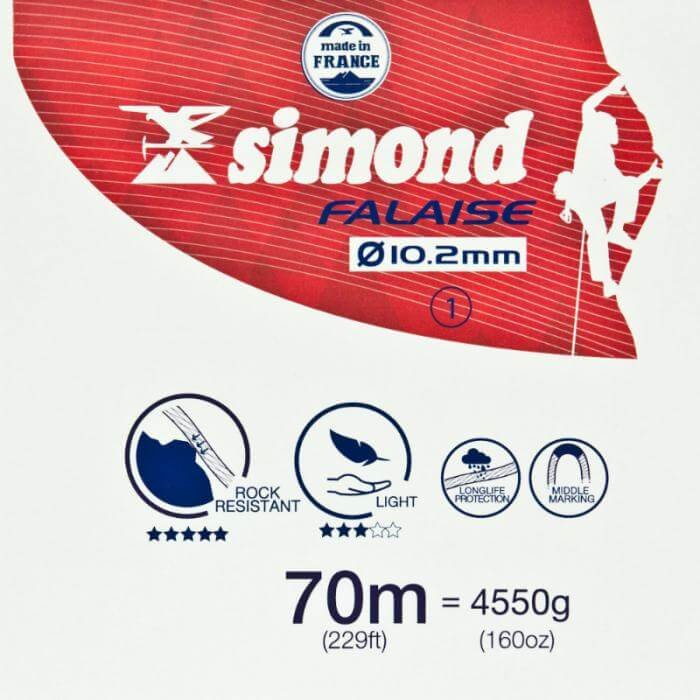 Simond 10.2mm Outdoor Rope 70m