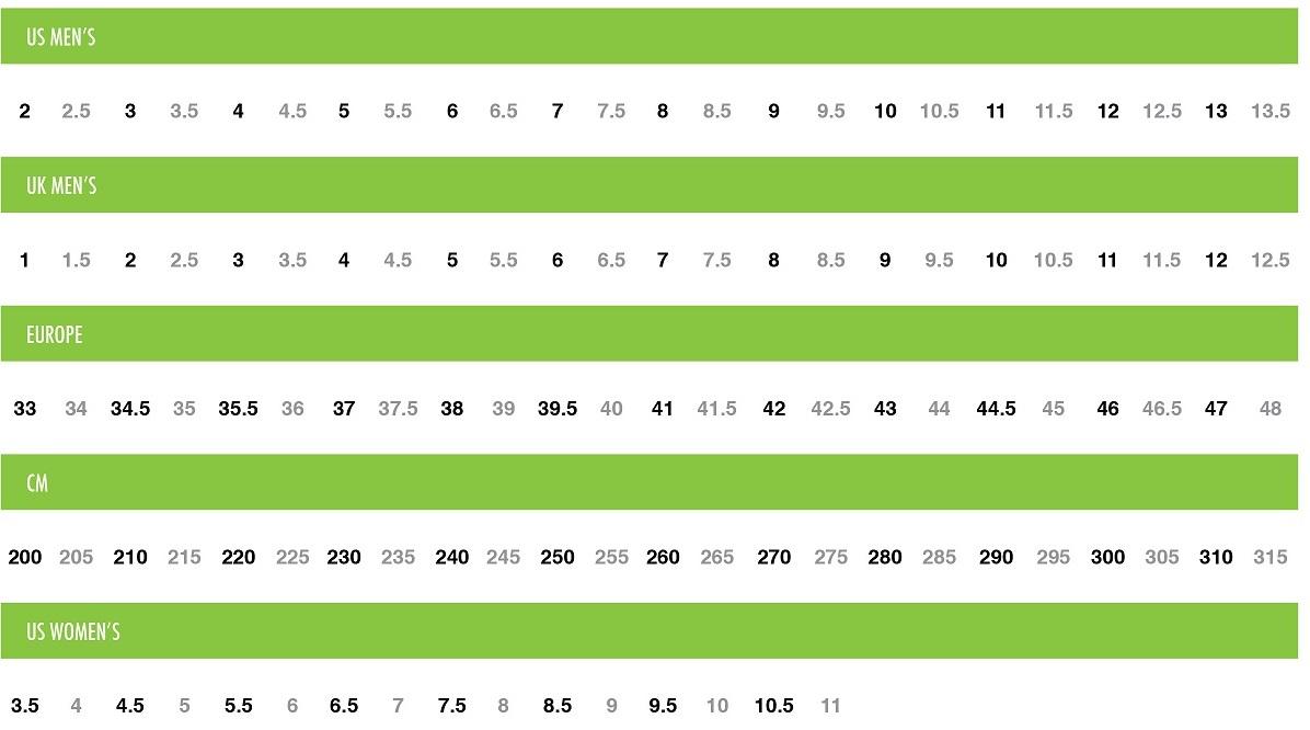 Evolv climbing shoe size chart shoes design evolv climbing shoe size chart nvjuhfo Images