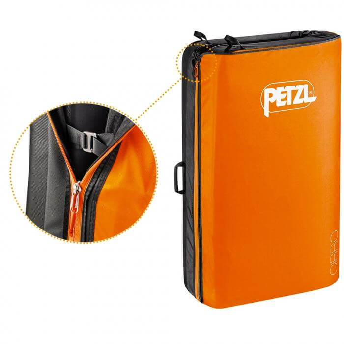 Petzl Cirro Crash Pad Zipper Closure